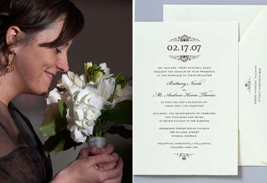 Georgia wedding. Invitations by betsywhite.com - Brittany and Andy 4