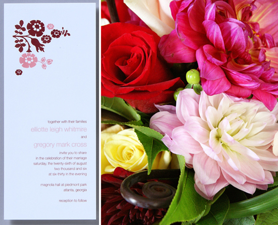 Real wedding. Invitations by betsywhite.com - Leigh and Greg 2