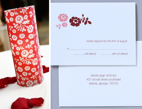Real wedding. Invitations by betsywhite.com - Leigh and Greg 3