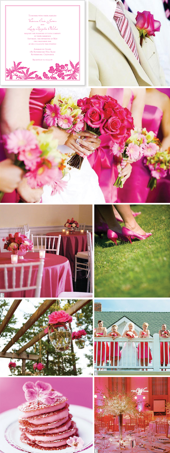 wedding inspiration board: hot pink