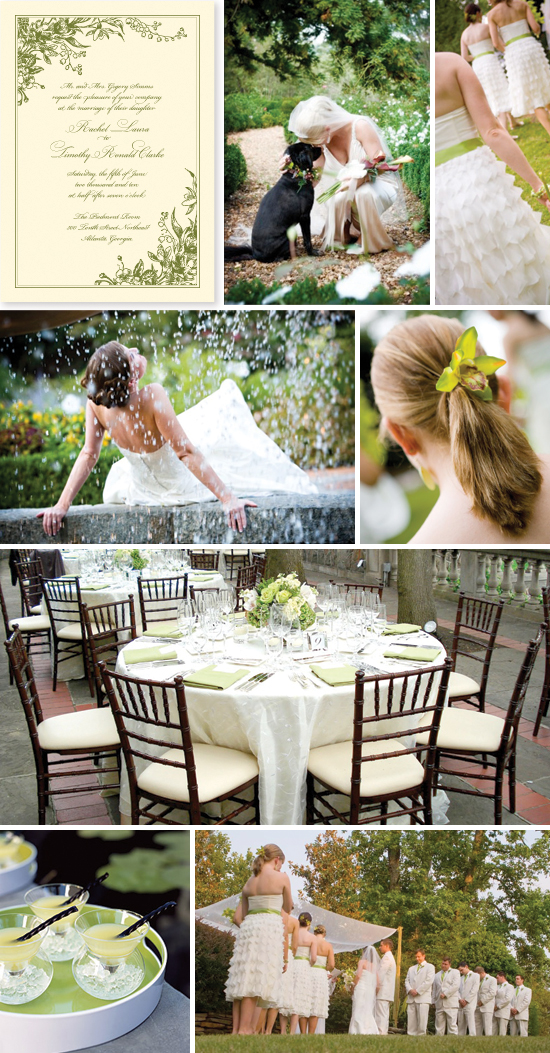 wedding inspiration board: spring garden