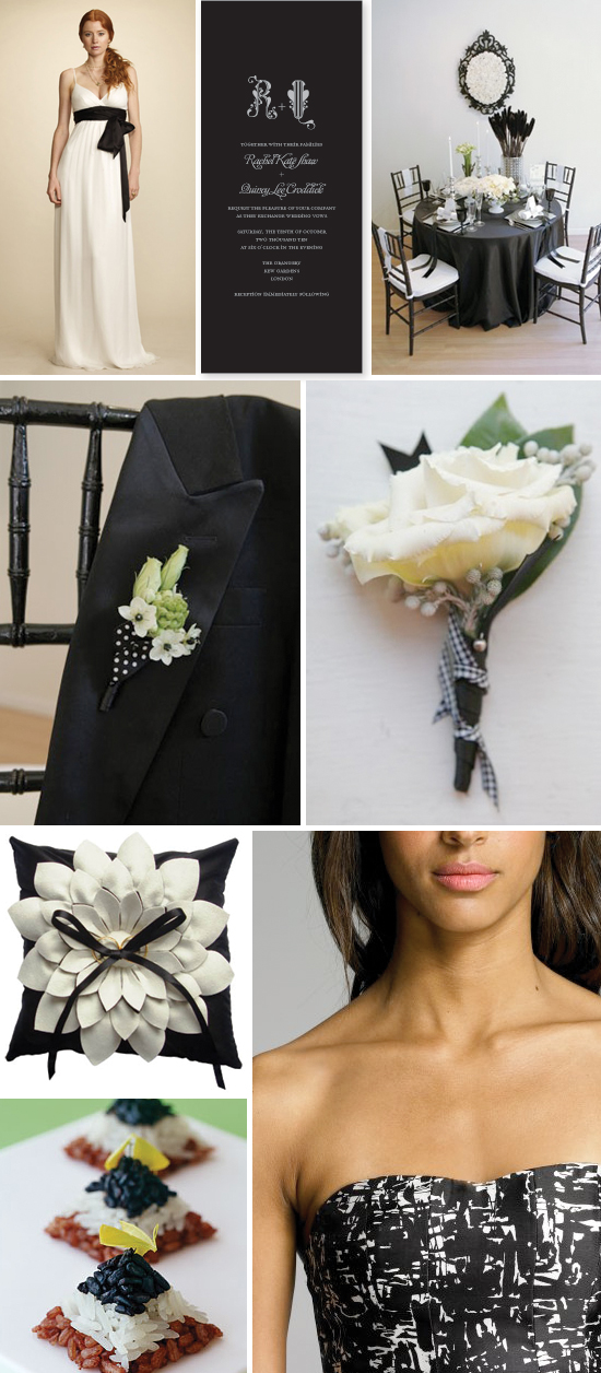 wedding inspiration board: black and white