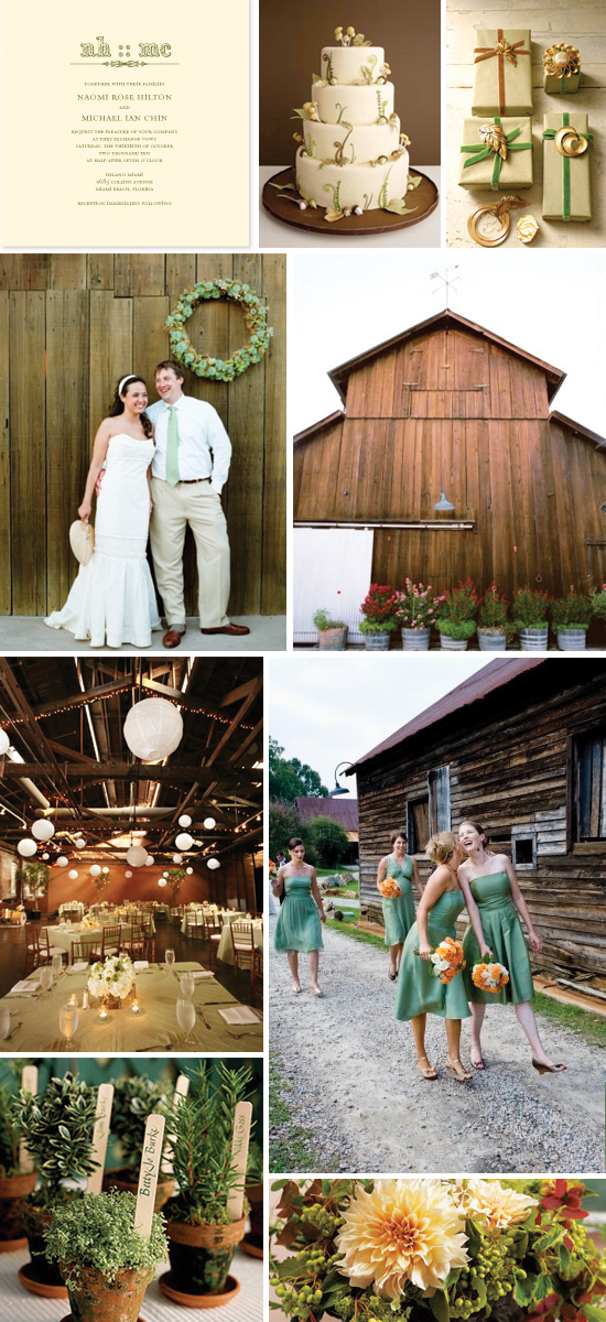 wedding inspiration board: rustic charm
