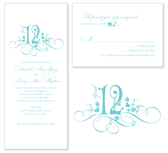 Georgia wedding. Invitations by betsywhite stationery boutique - Danielle and Jeremy 3
