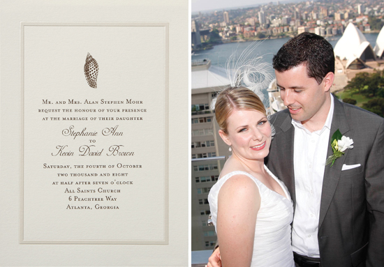 Australia wedding. Invitations by betsywhite stationery boutique: Lynne and Damian 4