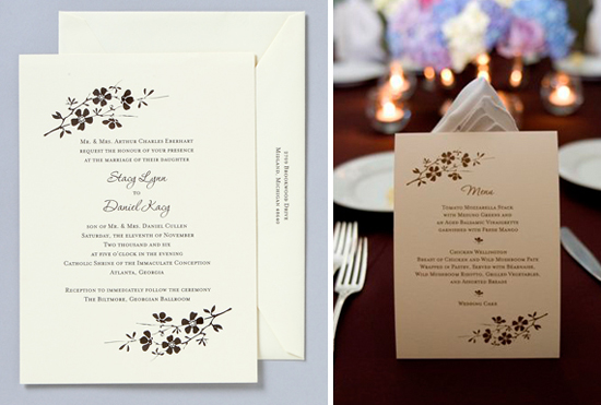 Atlanta Wedding. Invitations by betsywhite.com - Stacy and Daniel 3