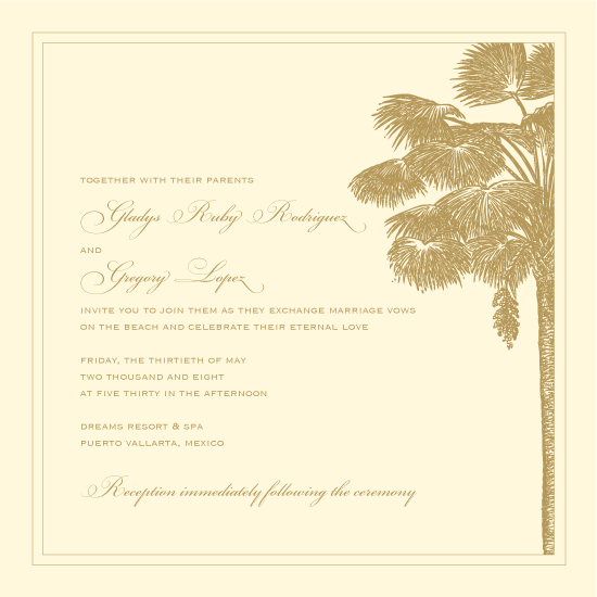 Destination wedding in Mexico. Invitations by betsywhite.com. Gladys and Greg - image 6