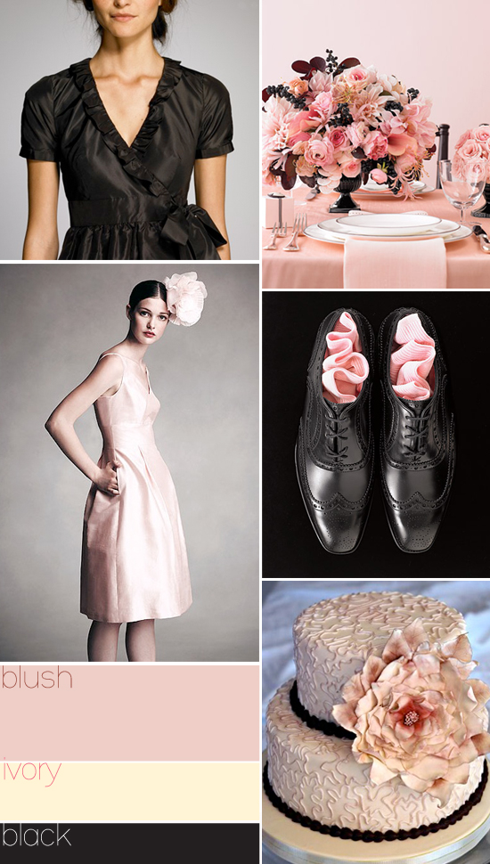 pink and black wedding colors