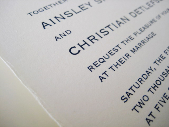 Atlanta wedding - invitations by betsywhite.com. Ainsley and Christian 5