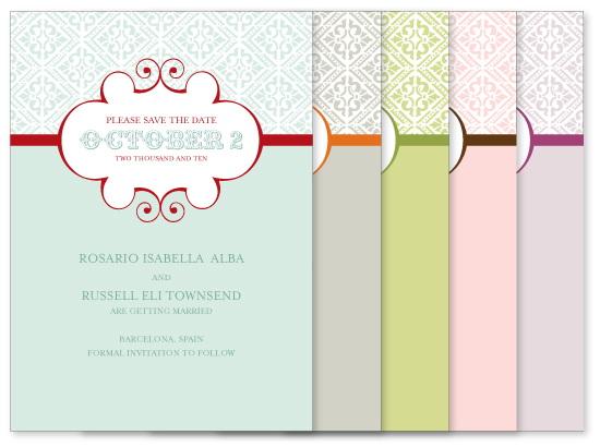 colorful save the dates