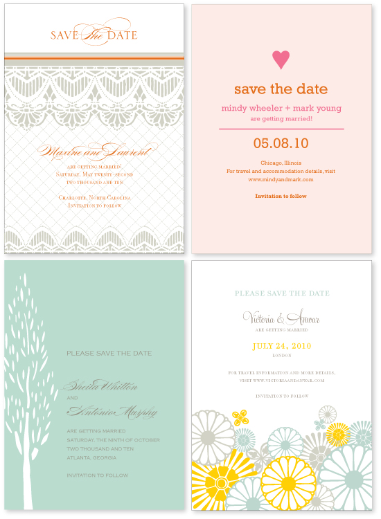 new save the date designs