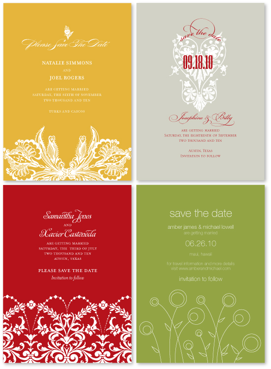 new save the dates for spring 2009