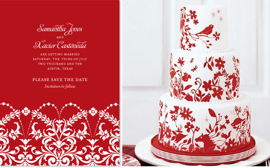 save the date and cake inspiration 1