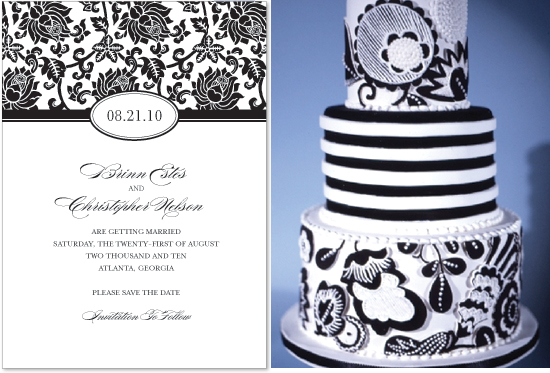 save the date and cake inspiration