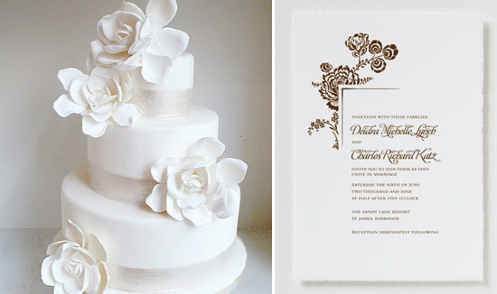wedding invitation and cake inspiration