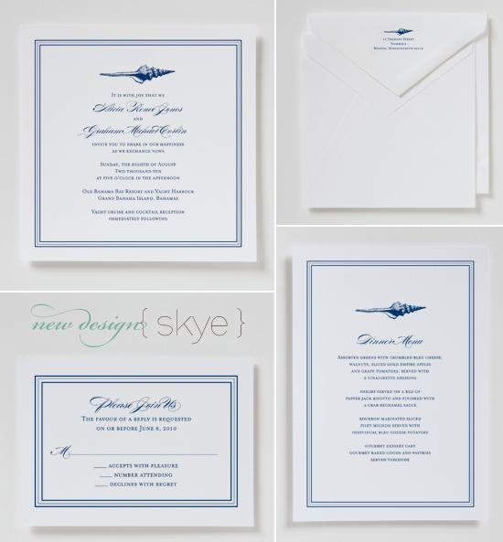 new wedding invitations from betsywhite.com - skye