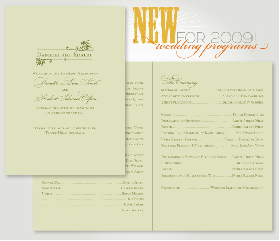 wedding programs by betsywhite.com