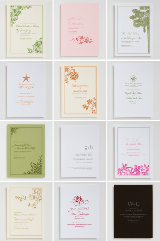 wedding programs and order of service