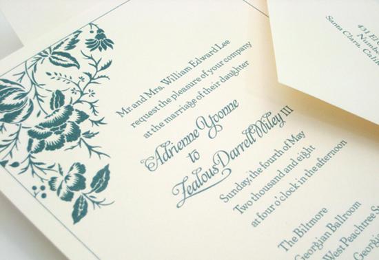 Liv wedding invitation by betsywhite stationery