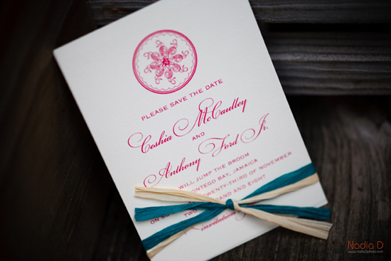 Destination wedding in Jamaica, invitations be betsywhite.com. Ceshia and Anthony 7