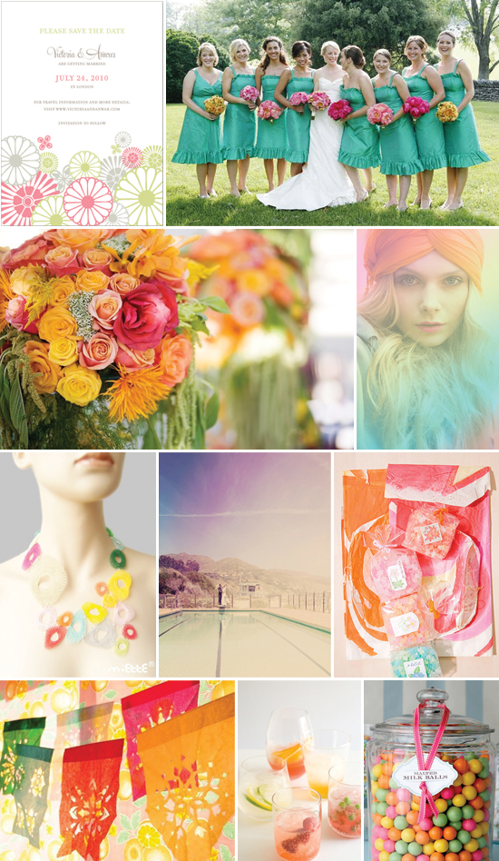 wedding inspiration - colors of the rainbow