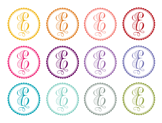 wedding logos - custom colors