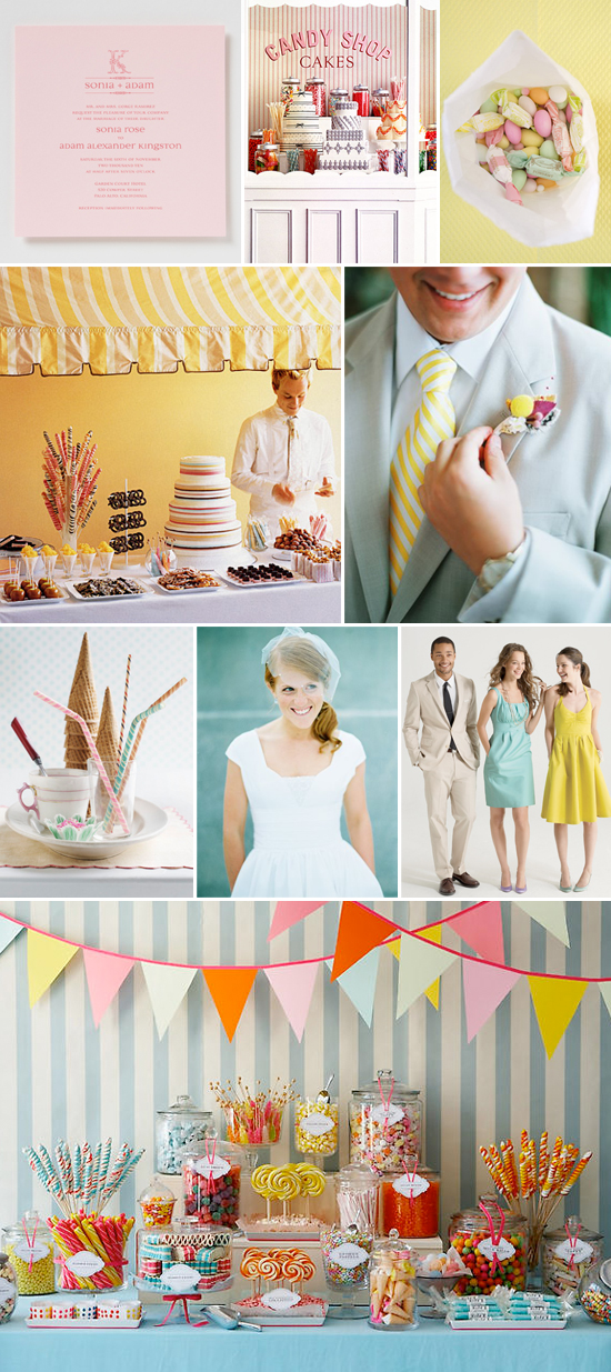 candy shoppe wedding inspiration