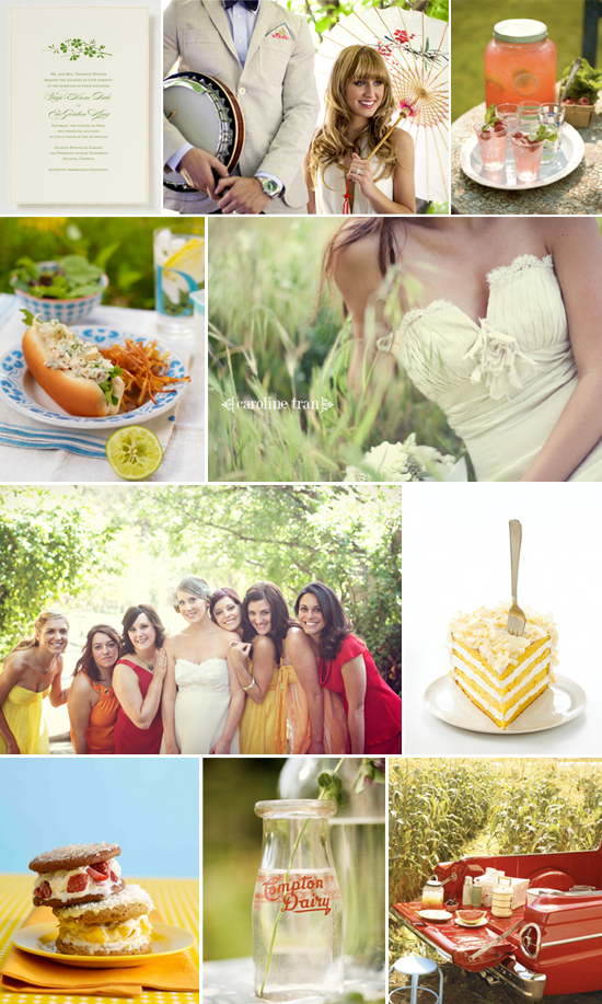 summer picnic wedding