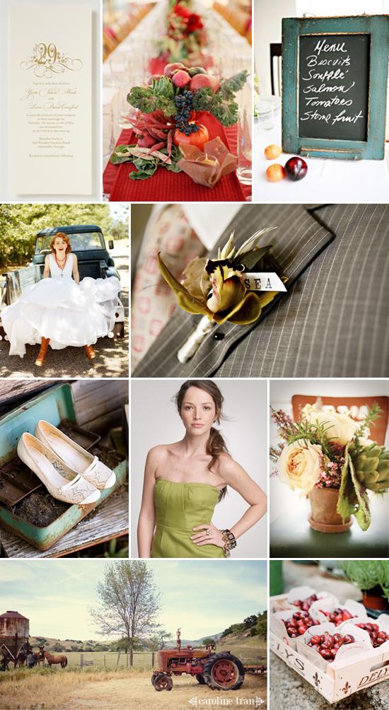 wedding inspiration: organic harvest