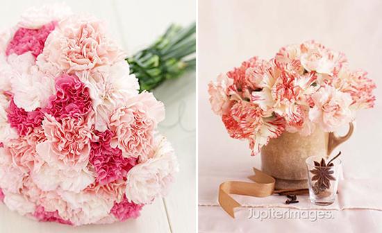 year-round wedding flowers: carnations