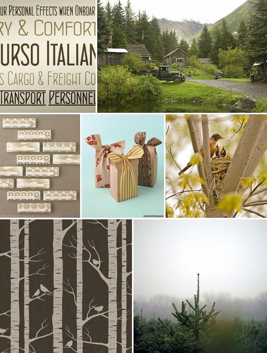 invitation inspiration: a woodland feel