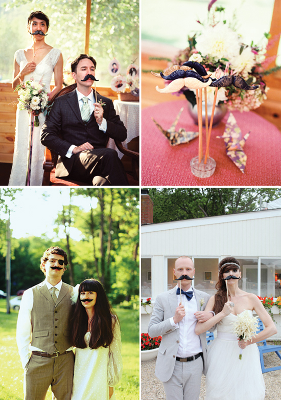 wedding trends: moustaches