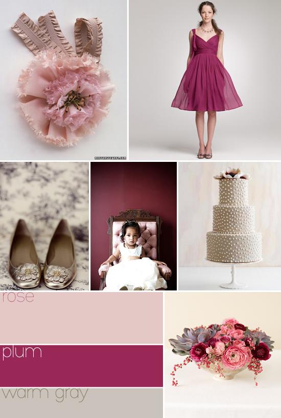 color palette: rose, plum, warm gray