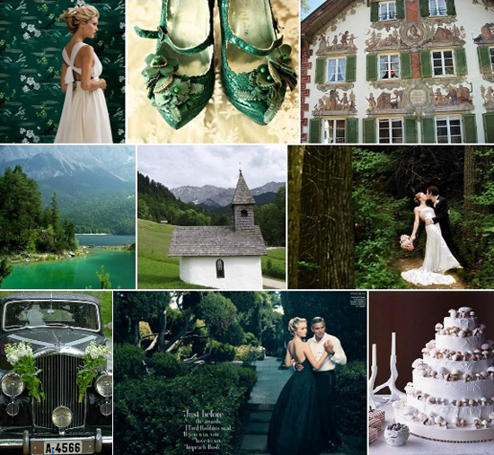 Wedding Inspiration: Bavarian Alps