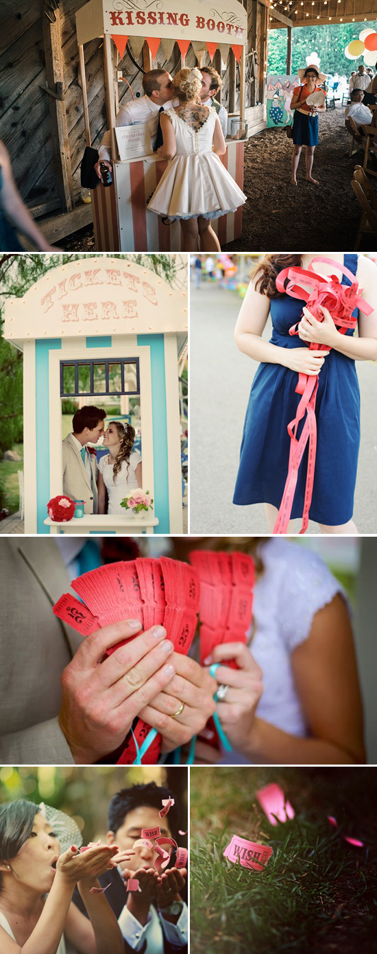wedding trends: carnival tickets and booths