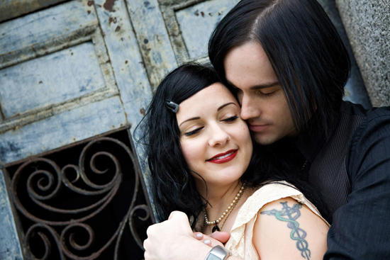 Claudia Akers Photography - Goth Engagement Session 2