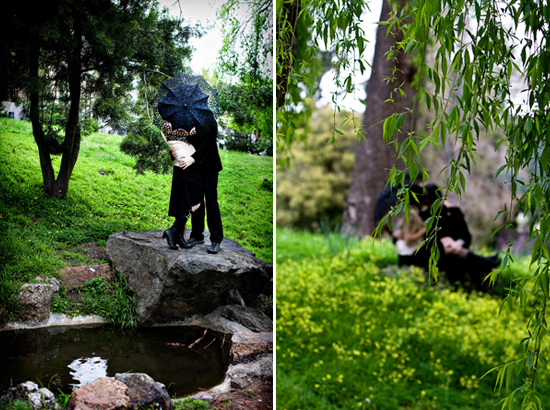 Claudia Akers Photography - Goth Engagement Session 4
