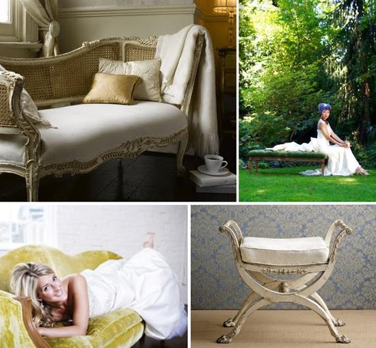 wedding decor: furniture outdoors