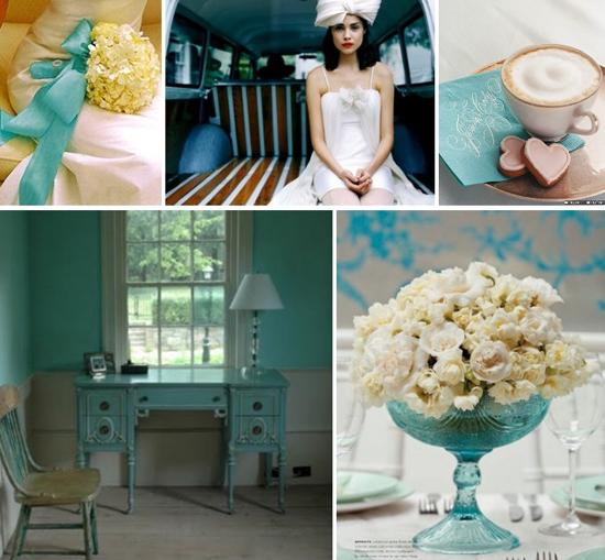 wedding colors: tiffany blue