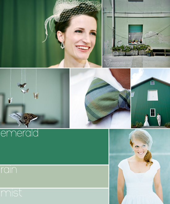 wedding colors: emerald green