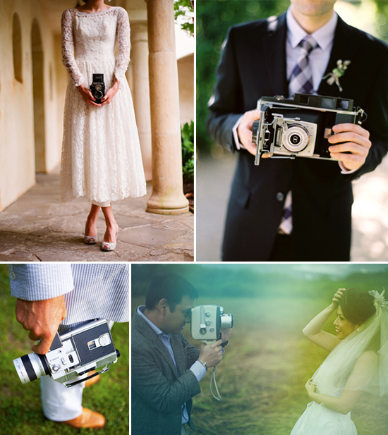 wedding trends - vintage cameras