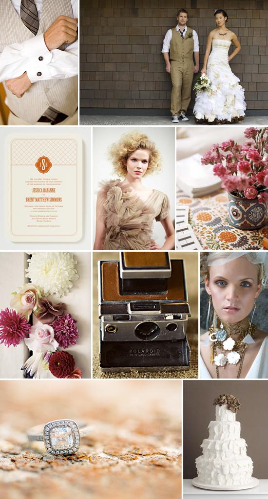 Funky, fashionable fall wedding