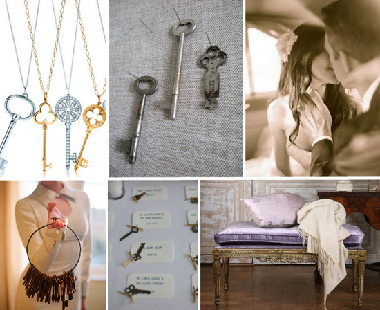 wedding details: antique skeleton keys