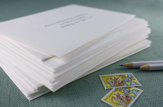 addressing your invitation envelopes