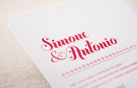 modern, simple wedding invitation