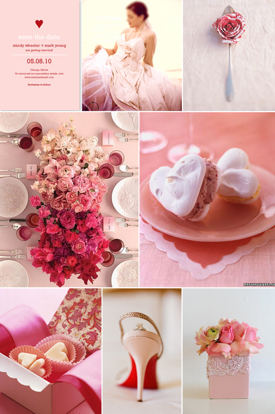 sweet valentine wedding inspiration