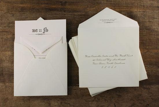 how to stuff square envelopes