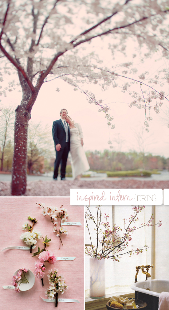 wedding inspiration: romantic spring buds