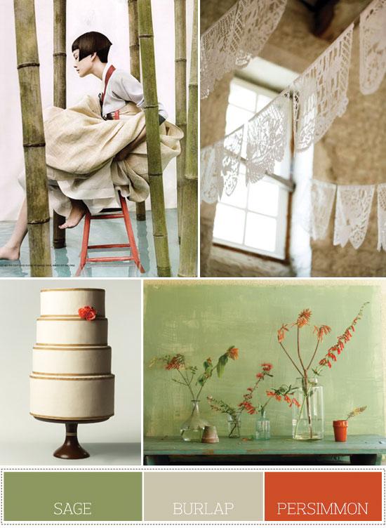 serene color palette for a spring wedding