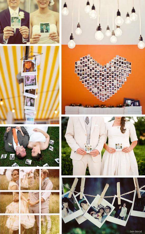 polaroids in weddings